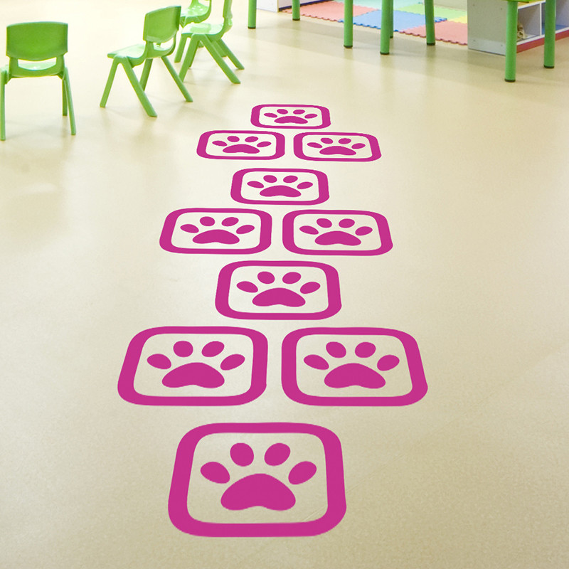 儿童房幼儿园跳格子地贴游戏幼儿园装饰地板贴纸卧室卡通墙贴画
