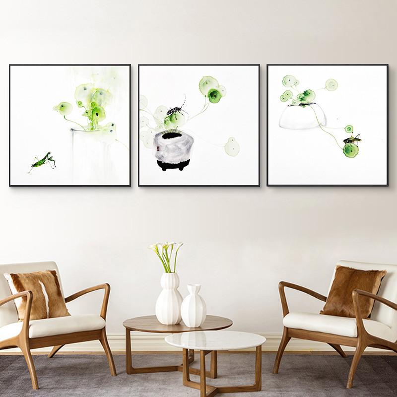 闲趣 简约现代餐厅装饰画沙发背景墙挂画客厅装饰