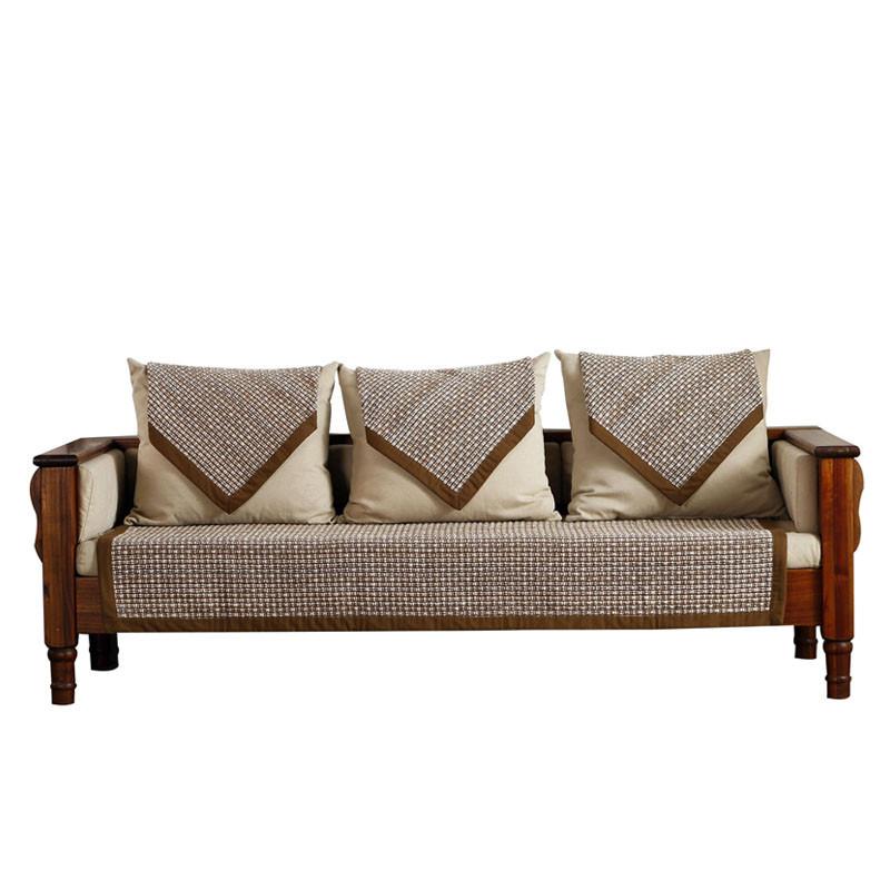 中式沙发垫布艺坐垫四季通用实木简约现代沙发巾红木客厅冬季加厚