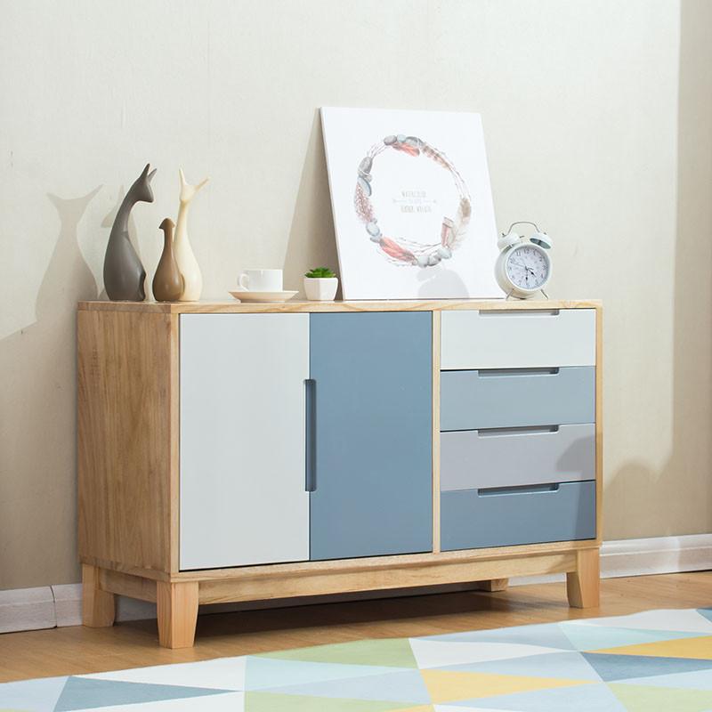 北欧收纳柜五斗柜实木客厅储物斗柜简约现代抽屉式矮柜卧室置物架