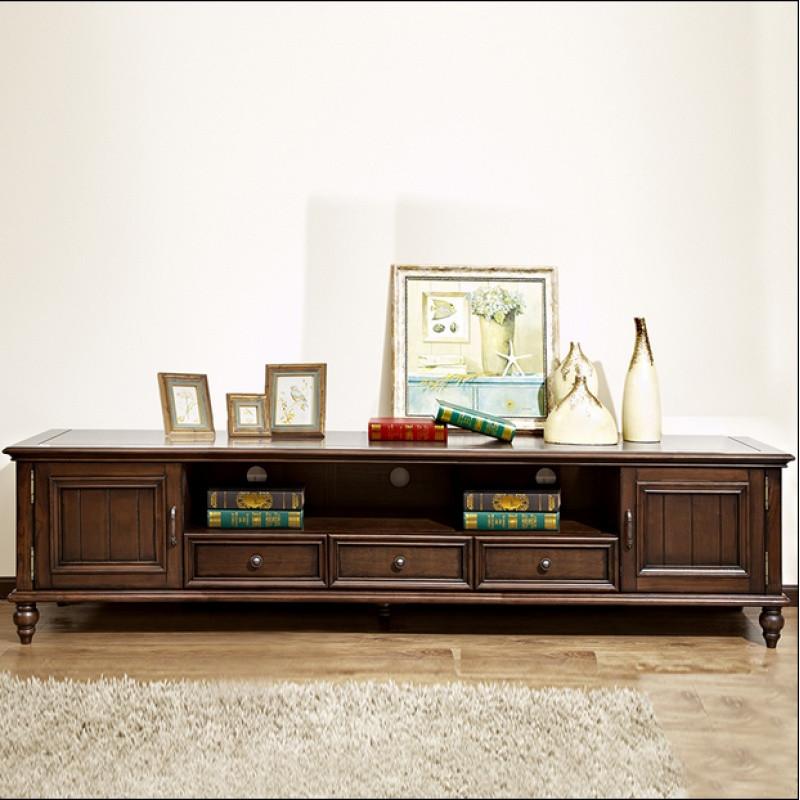 美式欧式全实木电视柜现代简约小户型客厅电视机柜子茶几组合家具