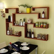 创意餐厅壁挂酒柜酒架 墙上悬挂式酒架置物架 家用红酒架客厅简约图片