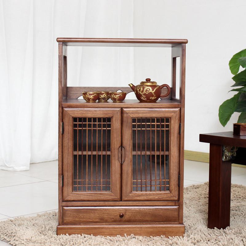 实木仿古中式酒店茶水柜客厅简约储物柜餐边柜办公室茶水柜收纳柜