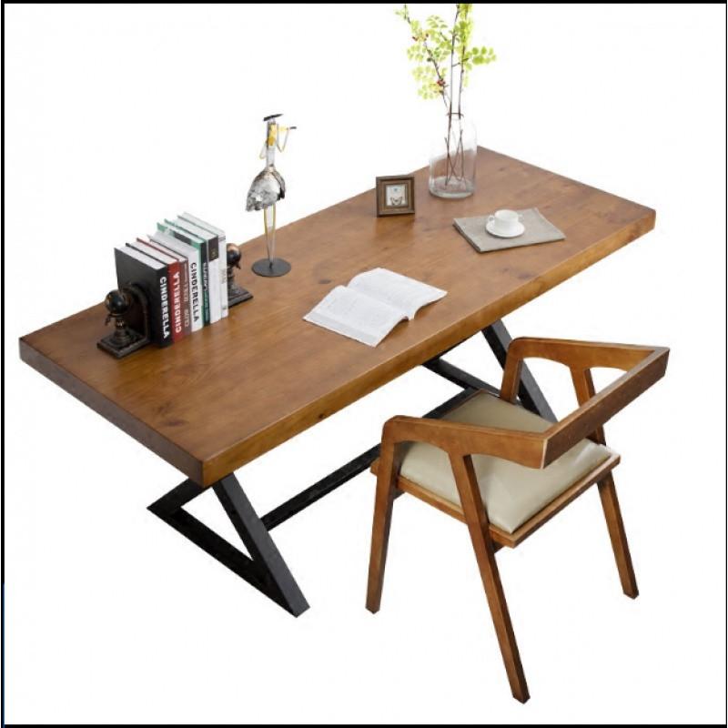 北欧风电脑桌小户型实木书桌现代简约办公桌写字台经济型