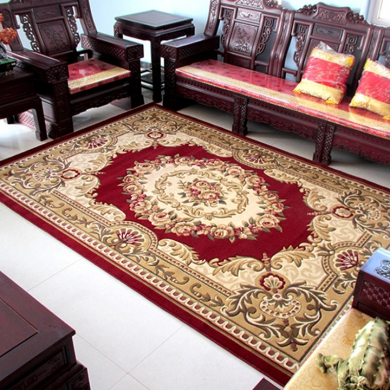 机制剪花客厅茶几地毯简约欧式风格家用现代经典图案大促销