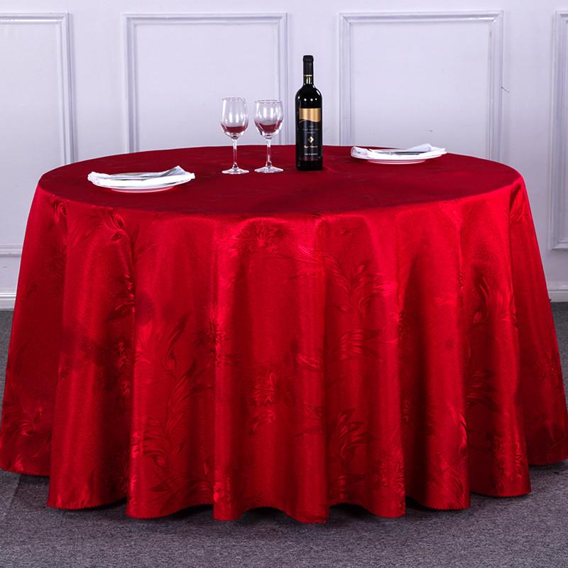 欧式高档酒店桌布餐厅圆桌台布