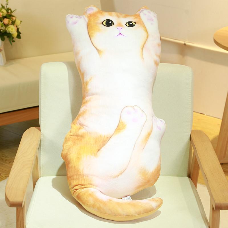 创意喵星人猫咪卡通抱枕3毛绒可爱趴睡枕办公室午休棉