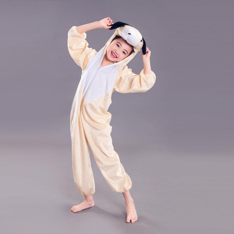 新款六一儿童节小狗动物演出服装儿童成人亲子装母女卡通造型表演衣服