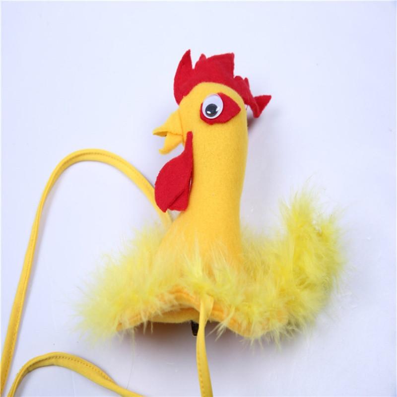 新款万圣节儿童成人表演小动物小鸡头饰公鸡母鸡头箍舞台六一演出道具