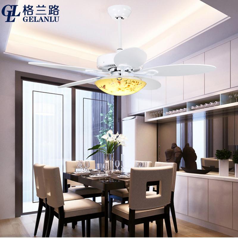 格兰路 新中式古典静音吊扇灯 家用中国风儿童房间电风扇灯扇 有加带图片