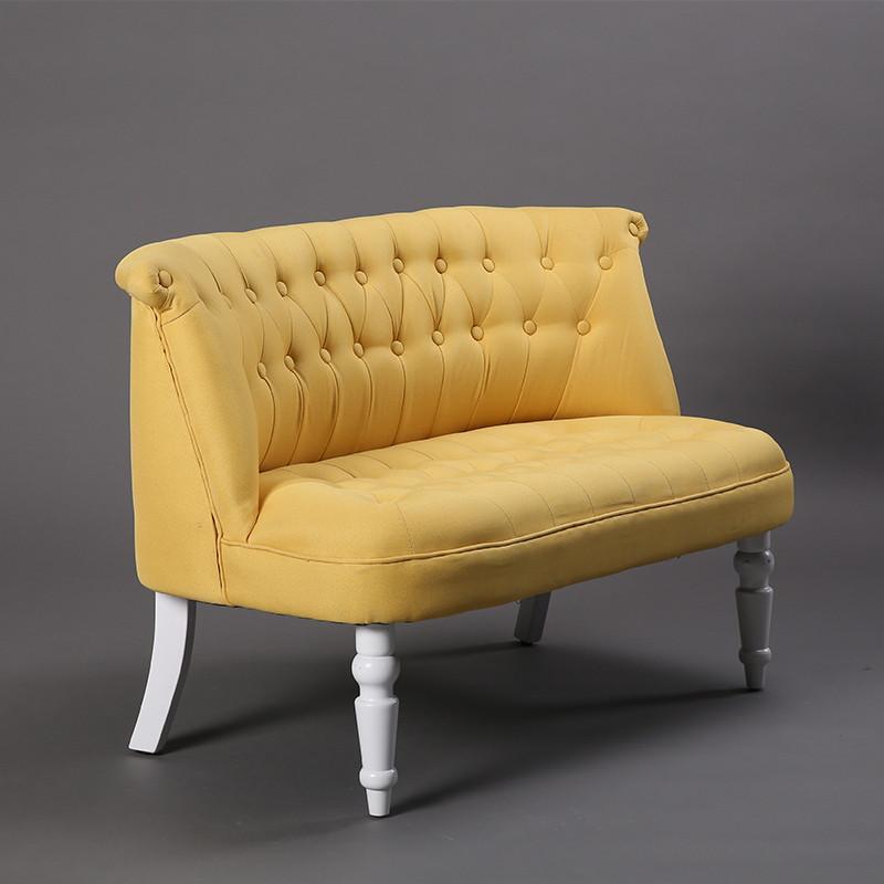 卡米蒂 美式布艺欧式沙发椅卧室服装店咖啡厅双人三人图片