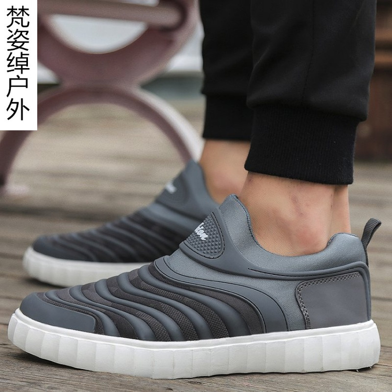 懒虫网面鞋男士高中跑步鞋韩版时尚潮流高中鞋学生美式华附图片