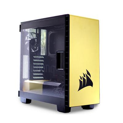美商海盗船 400C 中塔机箱/支持ATX主板/ 支持背线/支持36CM水冷/侧透 400c 黄色