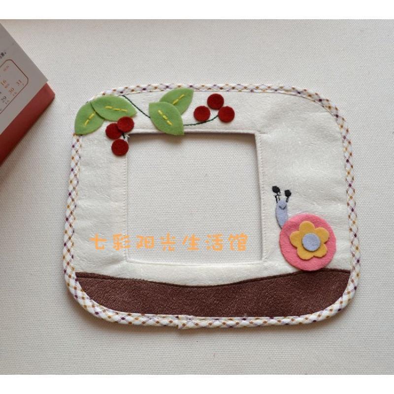可爱小蜗牛创意手工制作布艺开关套开关贴插座贴