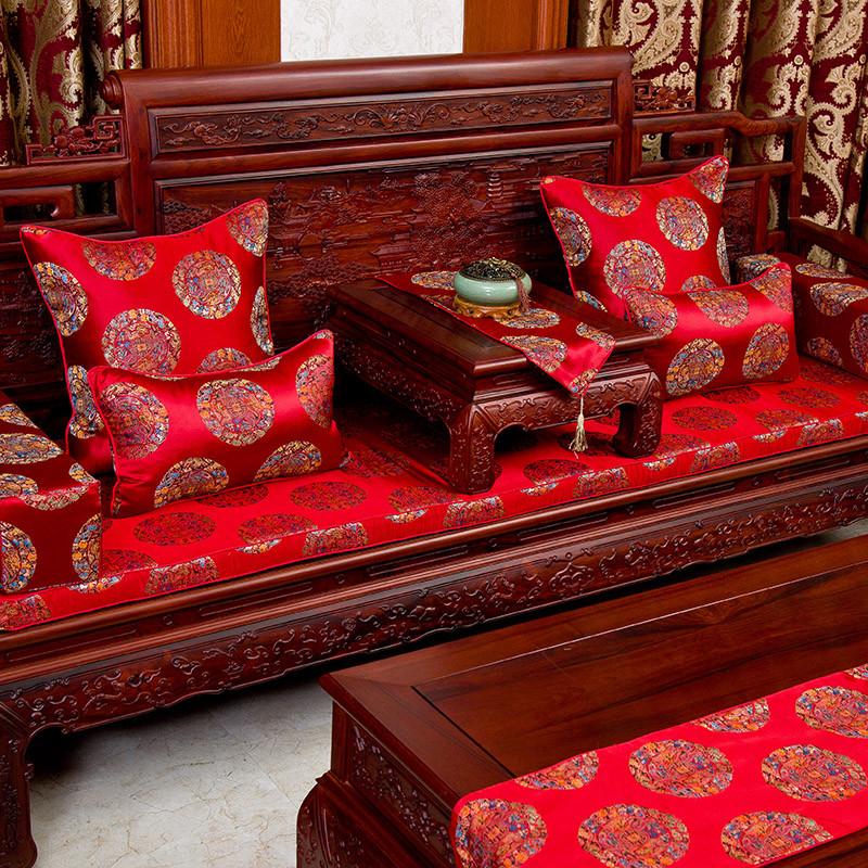 红木沙发垫坐垫中式布艺沙发坐垫实木沙发垫加厚
