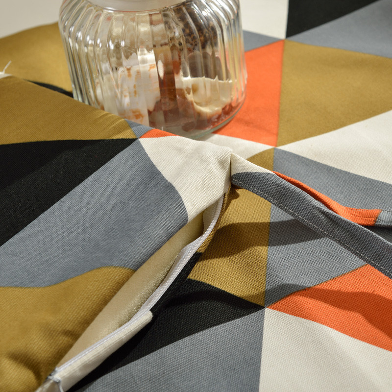 布藝家居椅墊菱立方坐墊保暖椅墊手工縫制海綿芯墊餐座墊子圖片