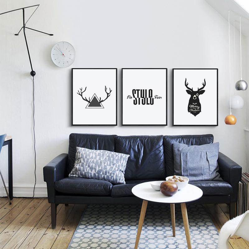 特价北欧风格装饰画客厅挂画玄关餐厅卧室温馨沙发后背景墙上大气壁画