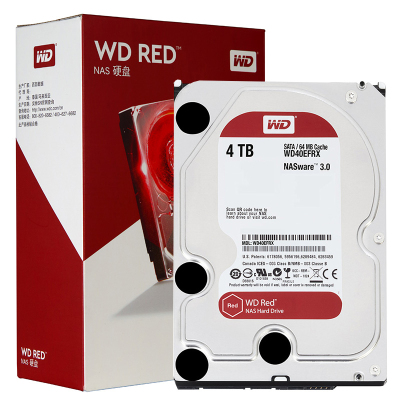 西部数据(WD)红盘 4TB硬盘网络储存(NAS) SATA6Gb/s 64M缓存 (WD40EFRX)