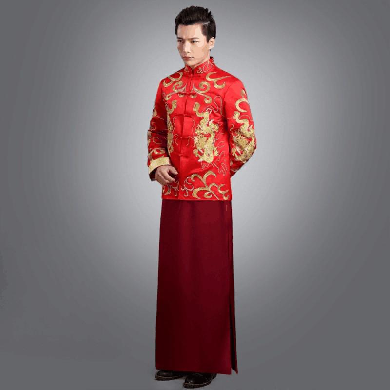 新郎新娘红色中式婚服古代古装婚礼服秀禾敬酒服古代婚纱男女套装
