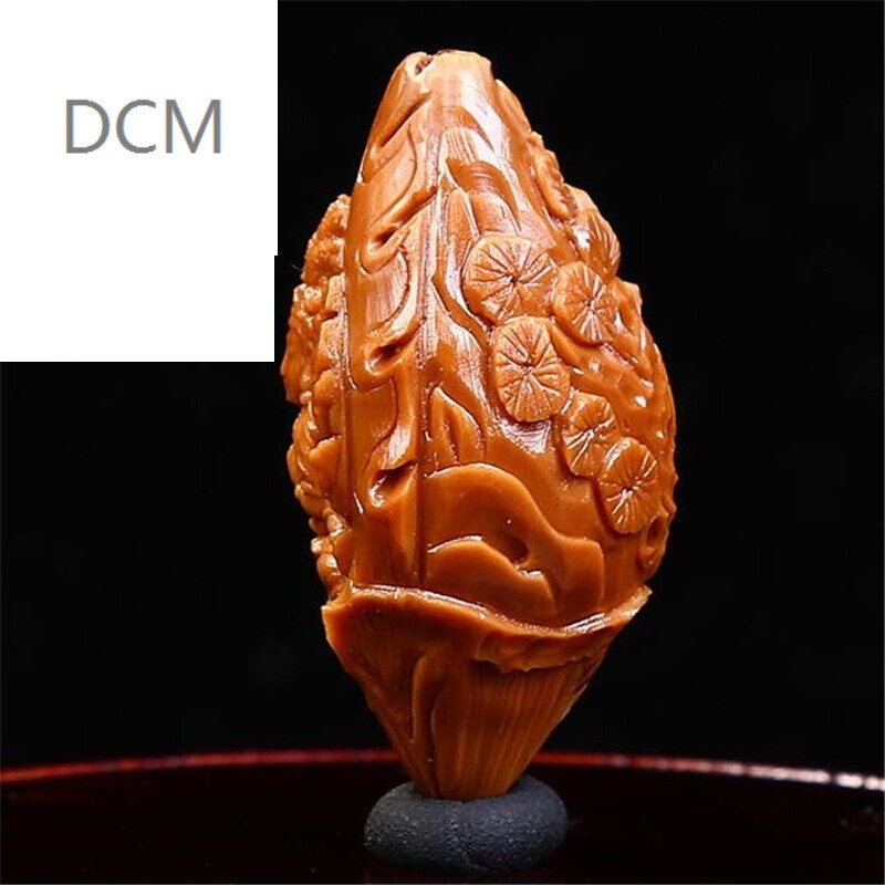 dcm橄榄核雕刻守护神千手观音单粒橄榄胡观音吊坠橄榄