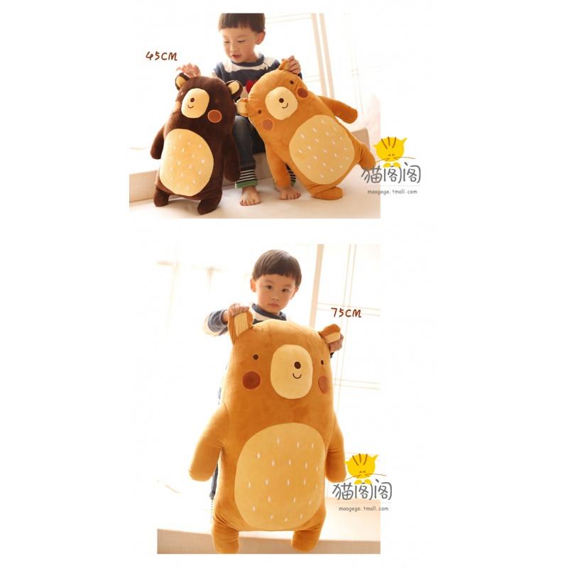 促销可爱呆呆熊毛绒玩具 情侣呆萌小熊公仔娃娃抱枕 儿童节生日礼物