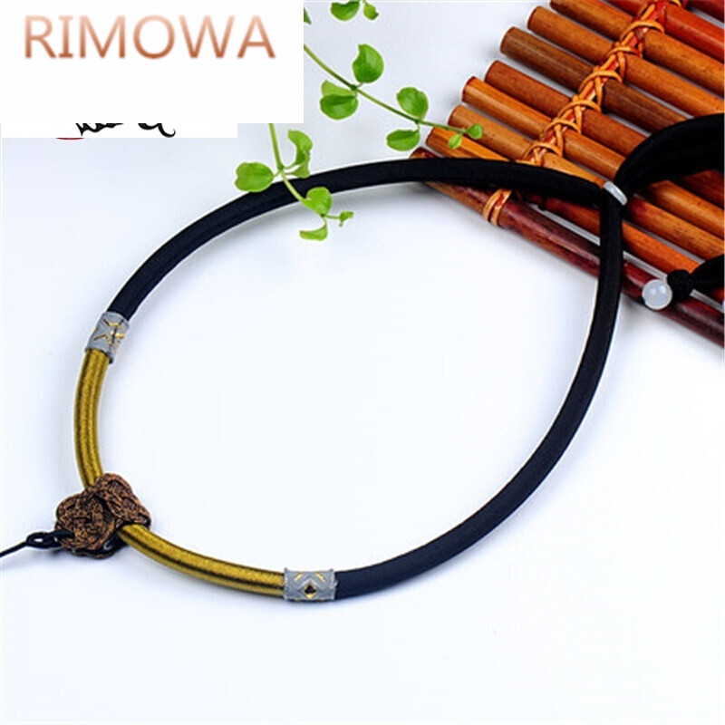 rimowarimowa百搭串结黑色棉线项链绳编织挂绳