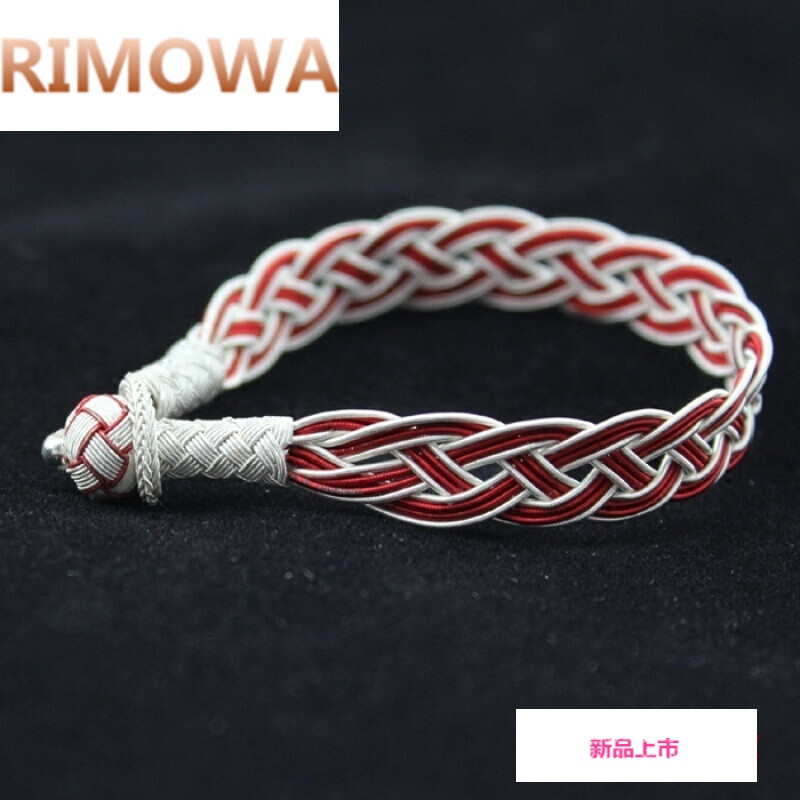 rimowa土耳其进口999纯银手链女士男情侣款手工银丝编织饰品生日本命