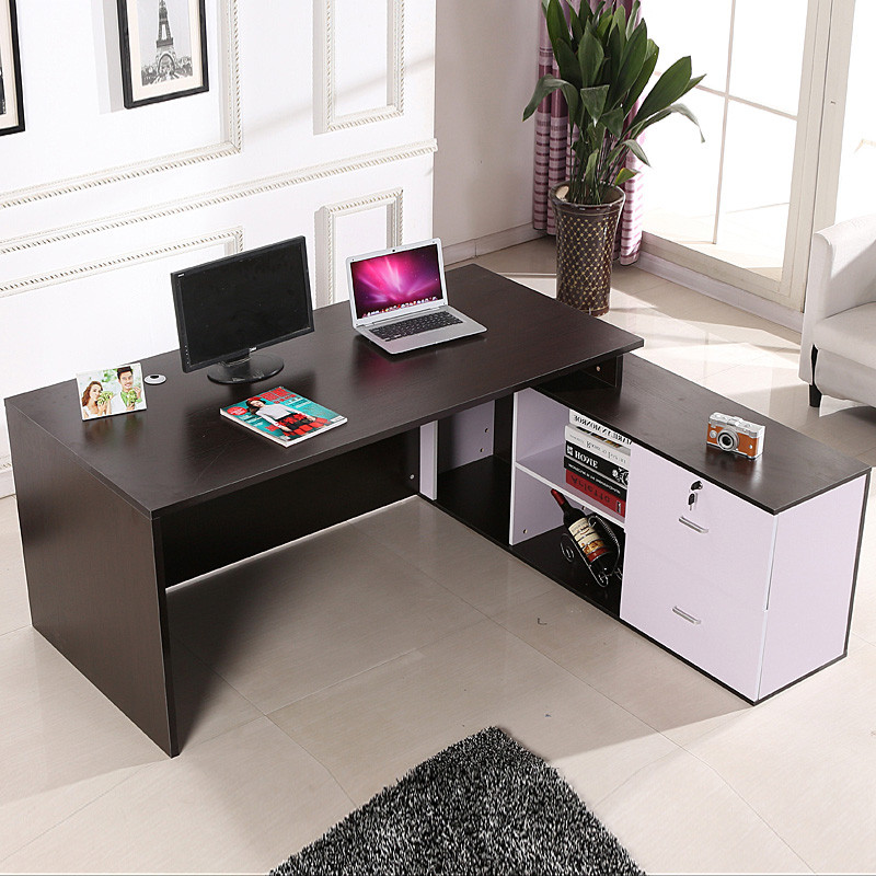 办公桌简约现代单人老板桌时尚大班台转角经理主管桌办公家具图片