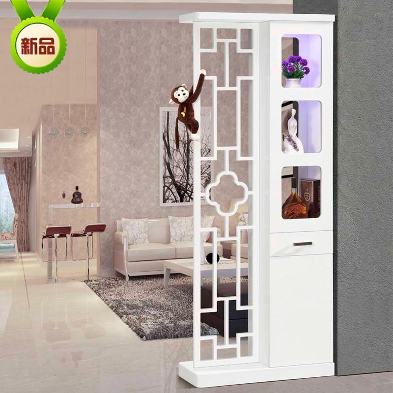客厅小户型简约镂空门厅玄关隔断柜子装饰柜酒柜进门屏风鞋柜组合