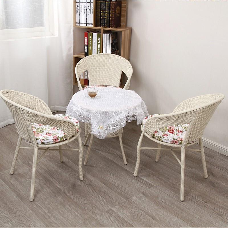 户外休闲家具阳台藤编露天室外咖啡厅茶几藤椅三五件套餐桌椅组合