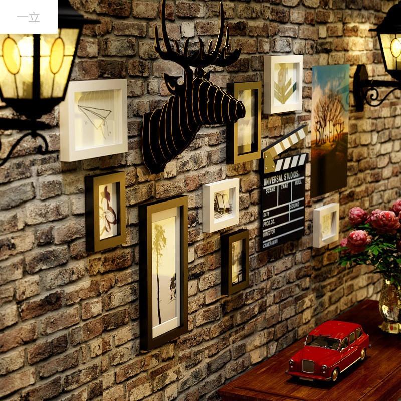 一立新款特价创意鹿头客厅照片墙欧式组合相框墙电视沙发背景墙过道图片