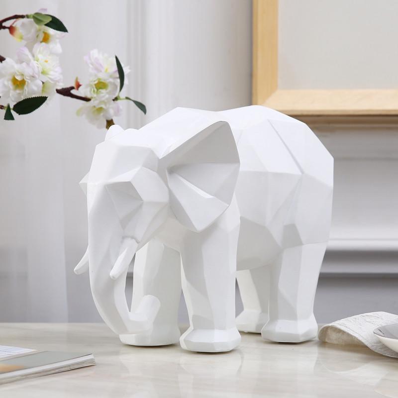 现代北欧样板房家居装饰几何折纸马摆件象创意动物摆设