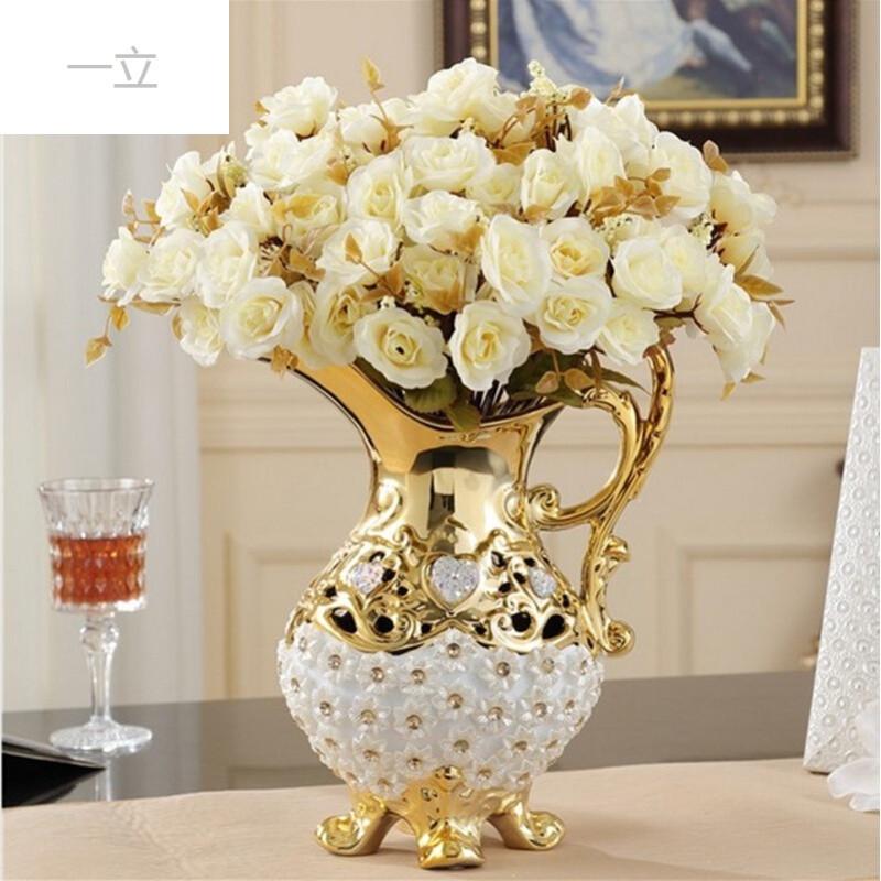 欧式陶瓷创意大花瓶装饰品客厅落地电视柜台面摆件结婚礼物