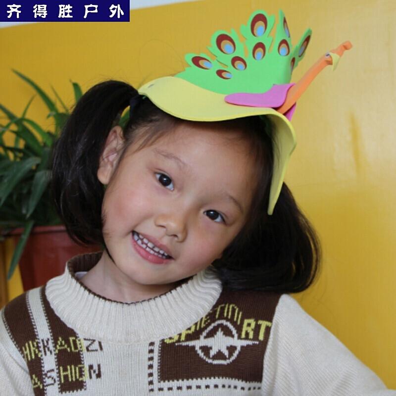 户外六一儿童节幼儿园卡通动物帽子头饰子游戏话剧演出表演面具道具