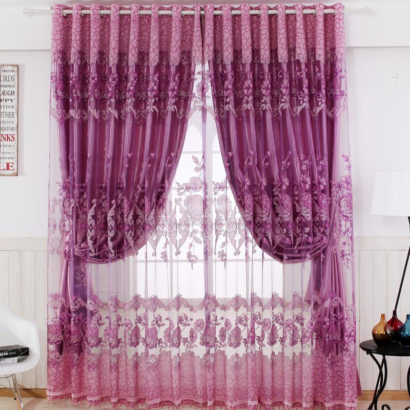 2017新款欧式客厅卧室落地窗遮光窗帘布 纱定制成品简约现代