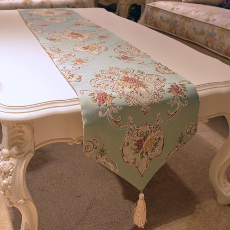 欧式现代简约桌旗高档餐桌布艺电视柜旗布北欧茶几巾桌布美式