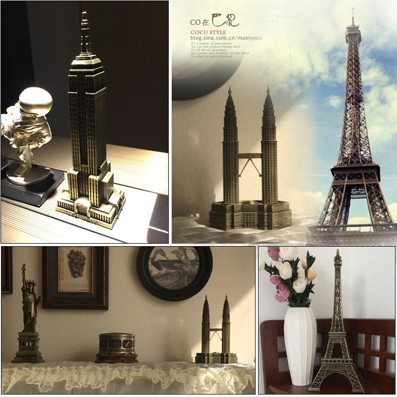 创意巴黎埃菲尔铁塔装饰品摆件家居房间书柜室内工艺品小模型摆设