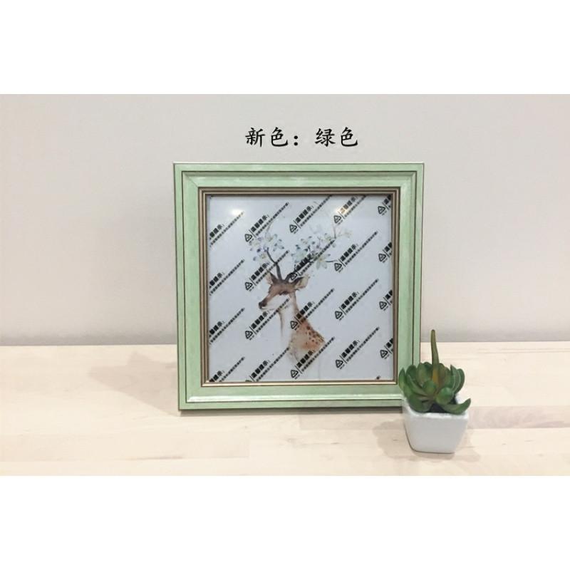 北欧相框▲正方形 有机玻璃 ps框体非实木刺绣装饰手工diy美式
