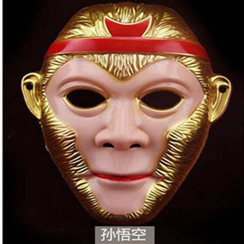 新款西游记卡通面具儿童玩具孙悟空面具演出猪八戒西游记脸谱全套