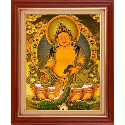 5D钻石画西藏传佛教唐卡黄财神菩萨佛像钻石绣贴钻十字绣满绣都市诱惑