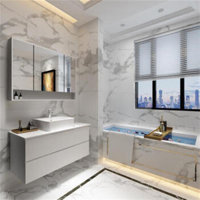 卫生间浴室柜北欧简约卫生间洗衣套餐卫浴定制转角北欧洗脸盆整体夹缝图片