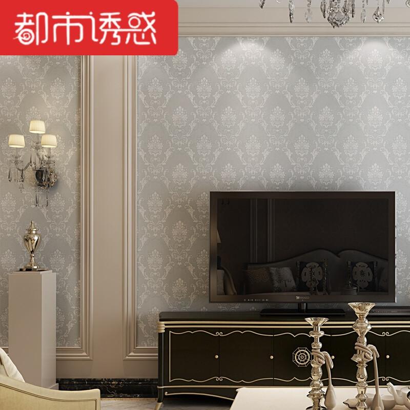 无缝墙布简欧轻奢壁布卧室客厅背景墙立体欧式墙布