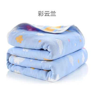 斜月三星母嬰 寶寶六層紗布童被毛巾被 多功能純棉兒童浴巾 空調毯毛巾毯 純棉透氣