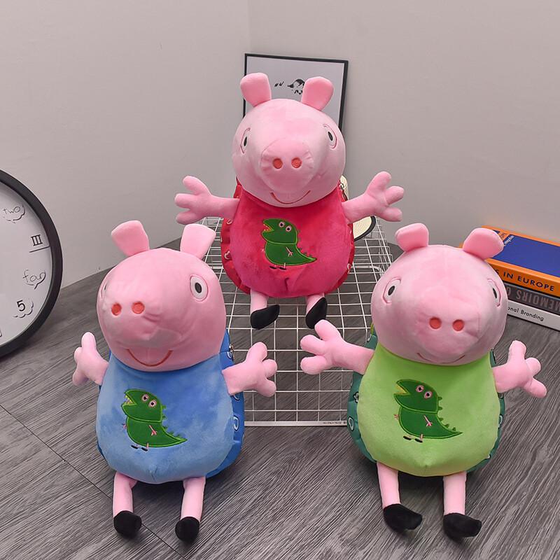 卡通儿童书包幼儿园小孩子1-3岁女宝宝小猪佩琪毛绒佩奇双肩背包