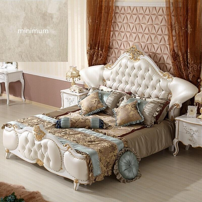 欧式床全实木床古典床双人床1.8美式简欧床主卧婚床家具床图片