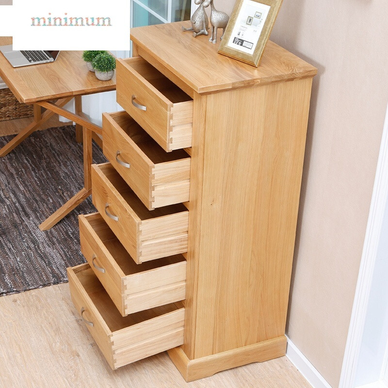 多功能家具_实木斗柜橡木美式储物柜家具多功能抽屉式收纳柜五斗橱五斗柜原木色