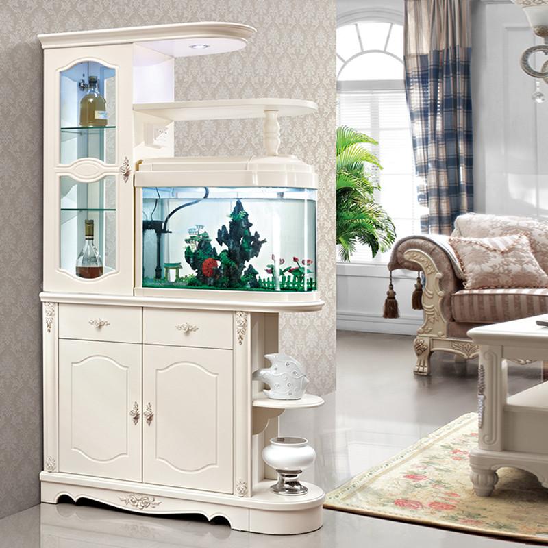 客廳帶魚缸隔斷柜現代簡約門廳玄關柜雙面酒柜鞋柜裝飾屏風柜子