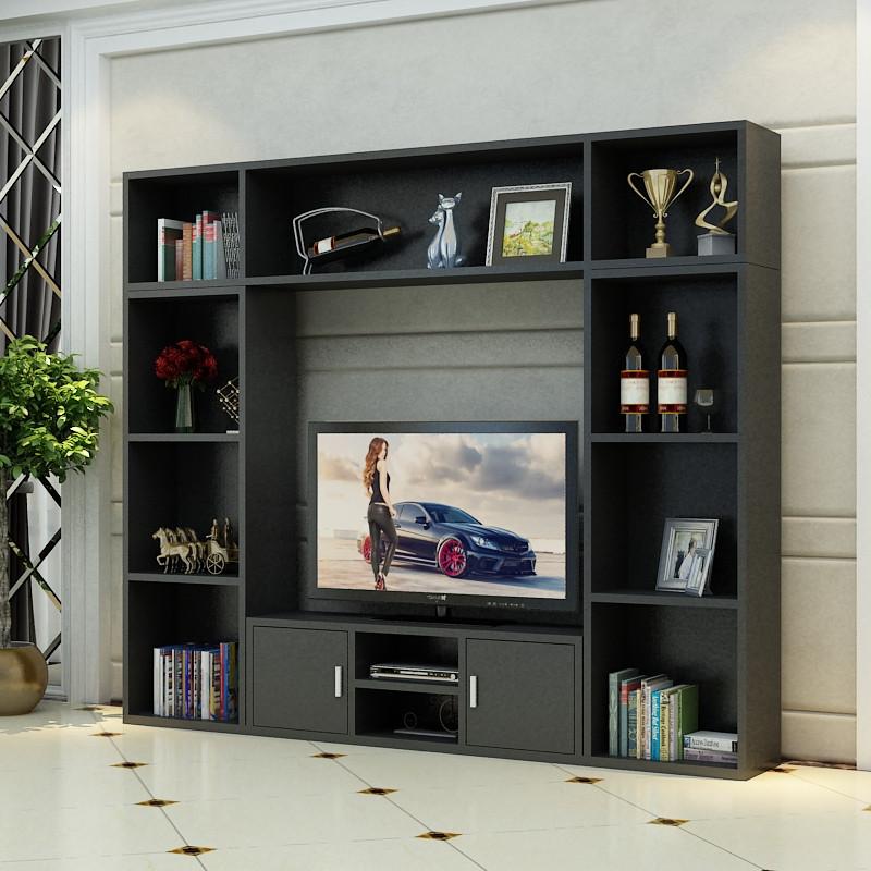 北欧客厅卧室简约电视柜书柜组合电视背景墙书架装饰酒柜影视墙柜