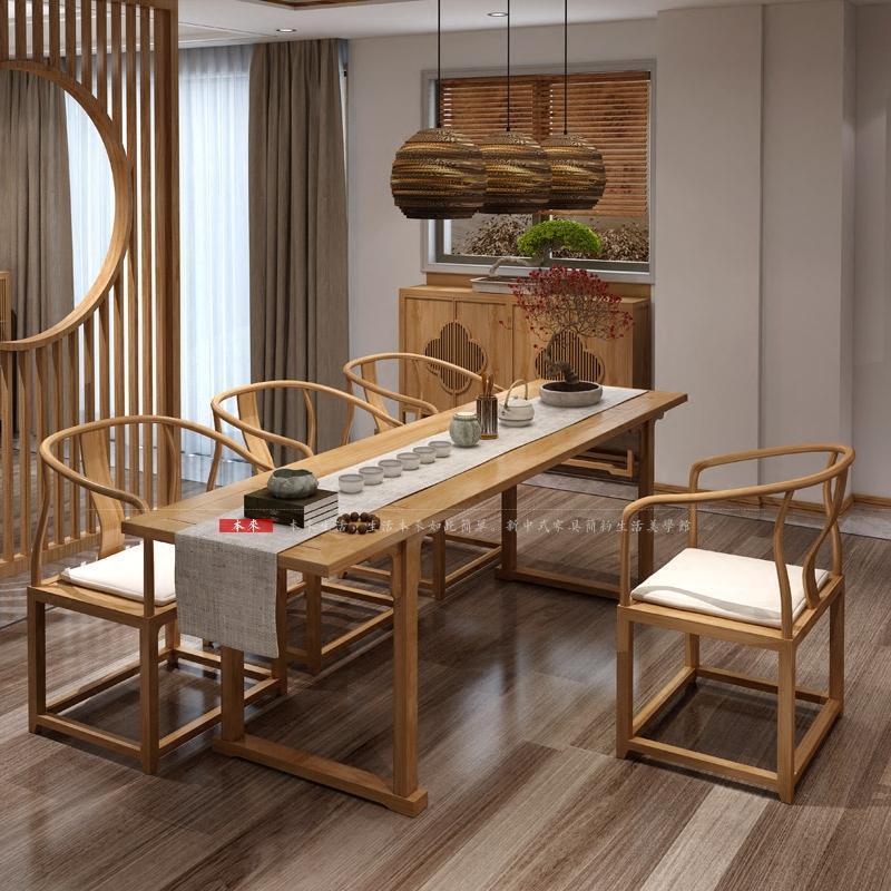 现代新中式餐边柜禅意玄关台茶水柜简约鞋碗柜实木储物装饰柜家具图片