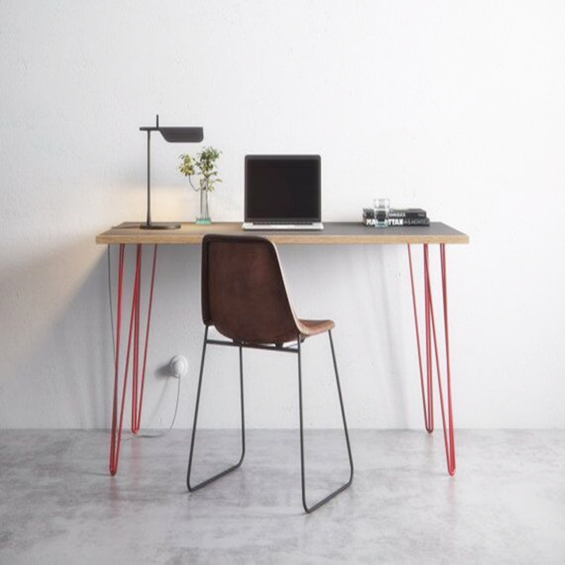 北欧简约实木书桌仿古办公桌椅电脑桌餐桌设计师家具写字台1.2米